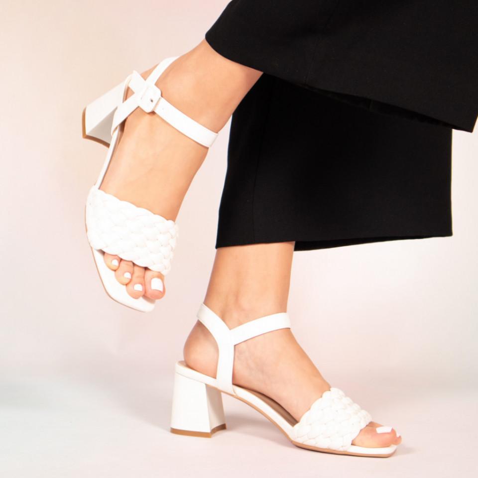 Sandale dama Jam albe