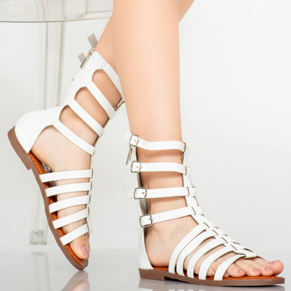 Sandale dama Rofa albe