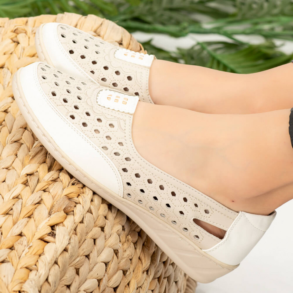 Pantofi dama Alio albi
