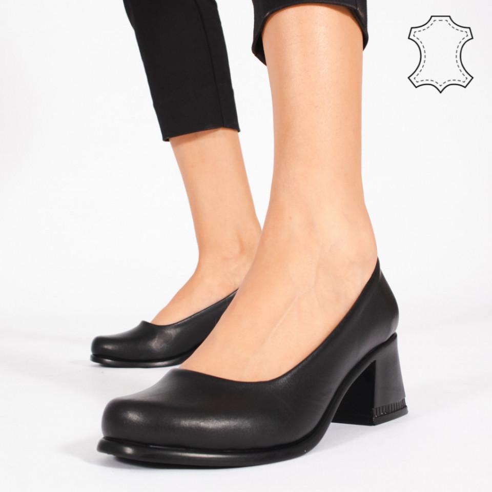 Pantofi Piele Naturala FELY Negri