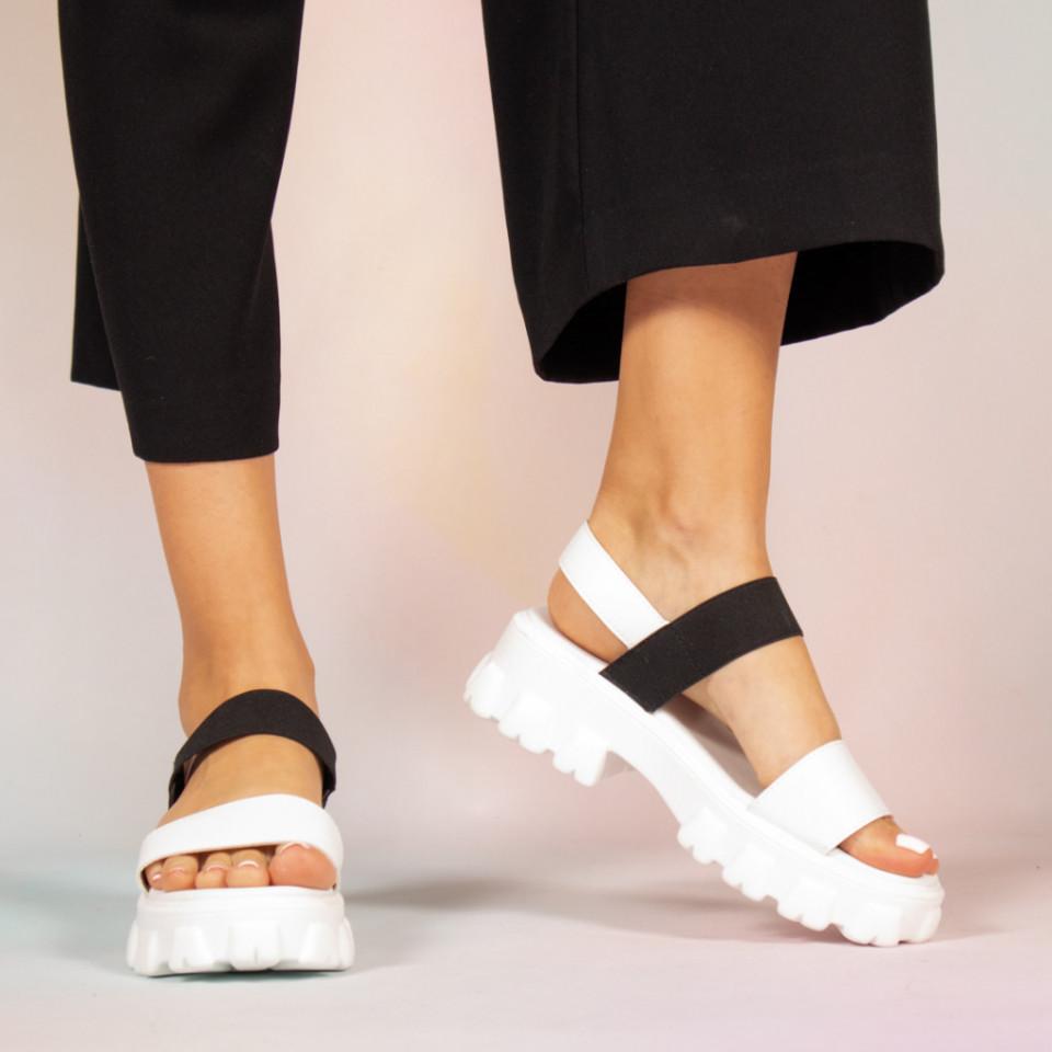 Sandale dama Pips albe
