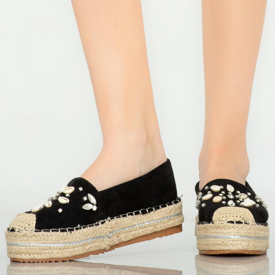 Pantofi casual Calla negri