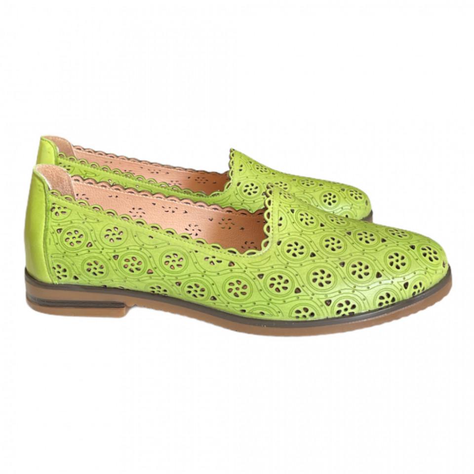 Pantofi piele naturala Hill galbeni