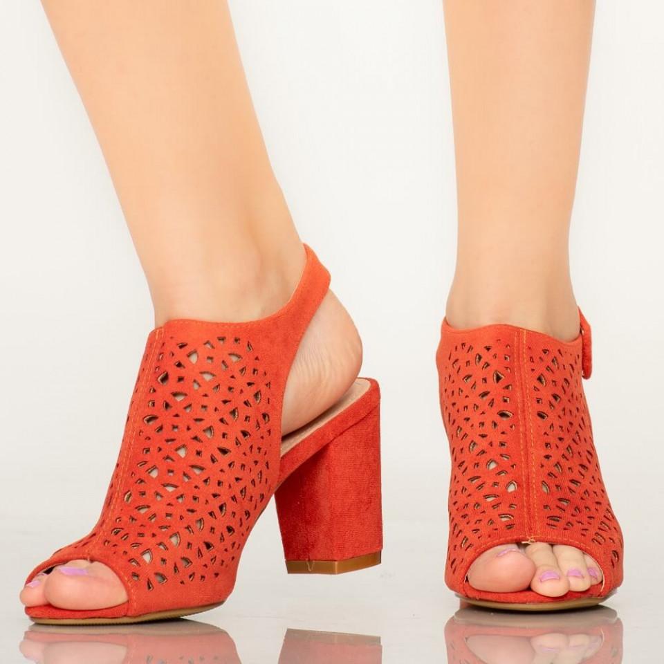 Sandale dama Hefe portocalii