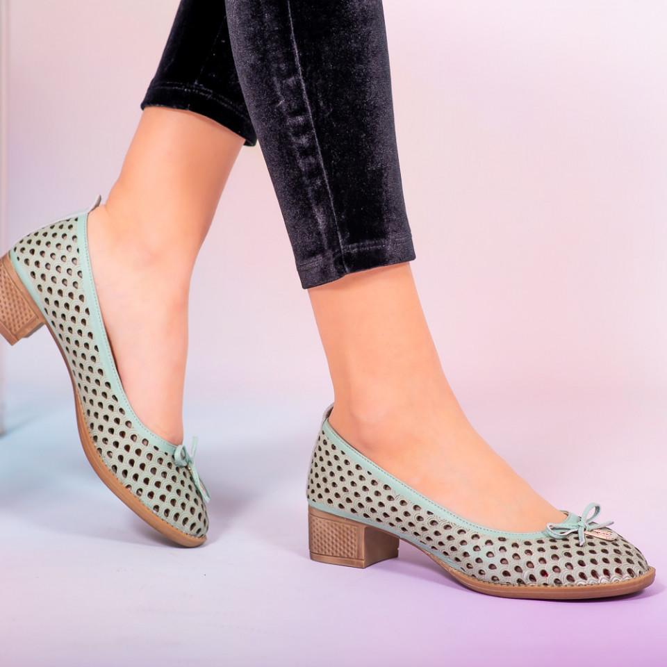 Pantofi piele naturala Bro verzi