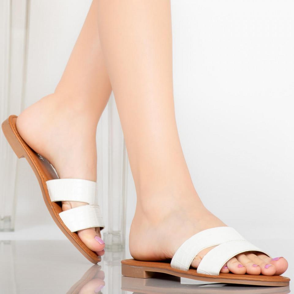 Papuci dama Sopa albi