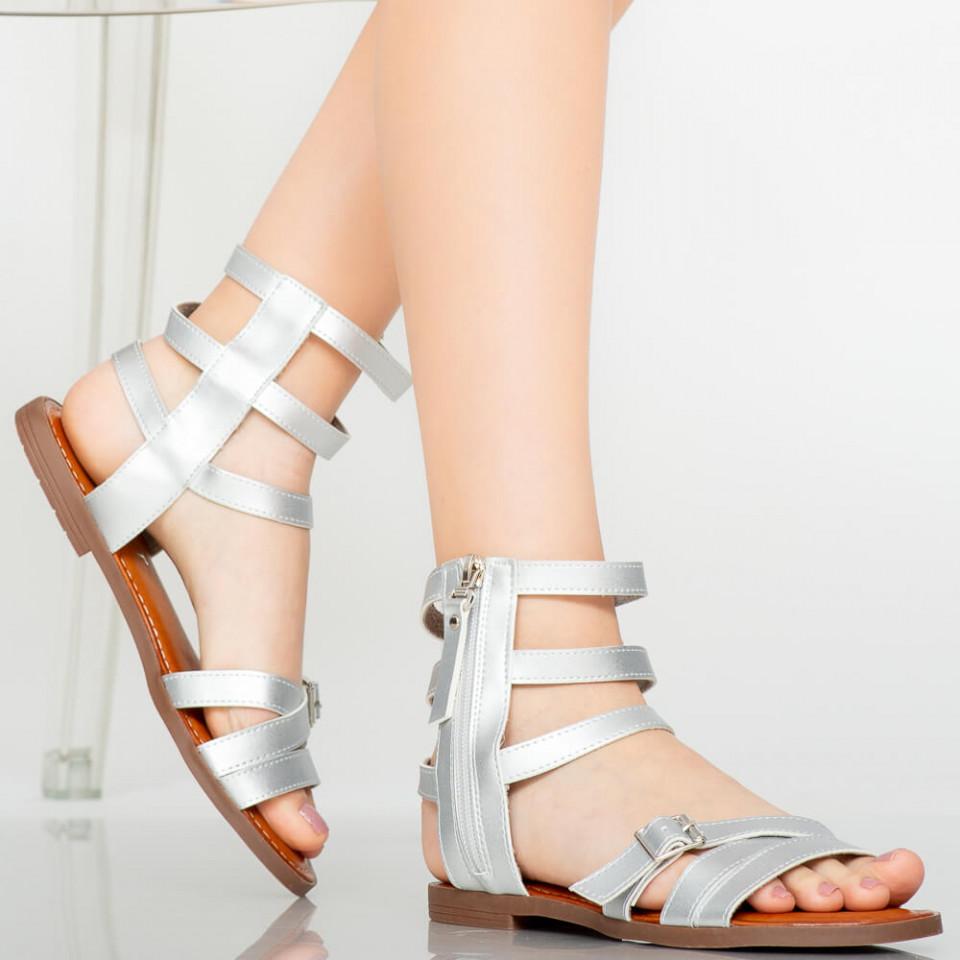 Sandale dama Osty argintii