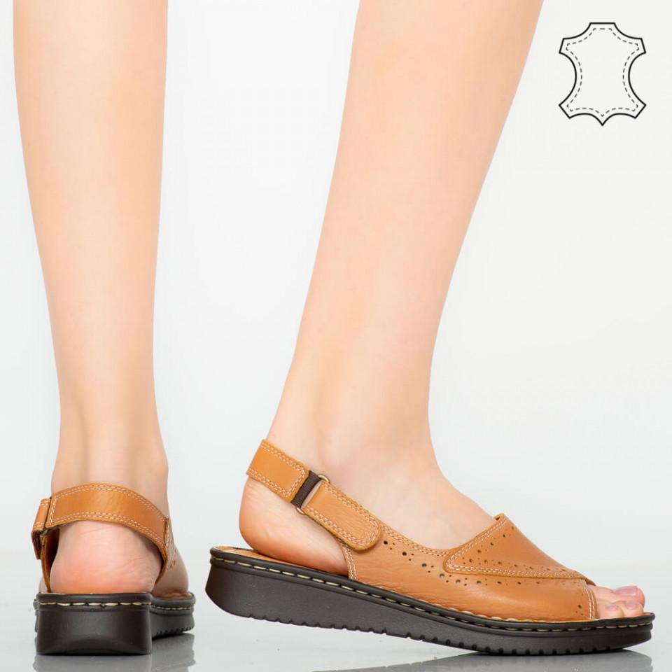 Sandale piele naturala Algo maro