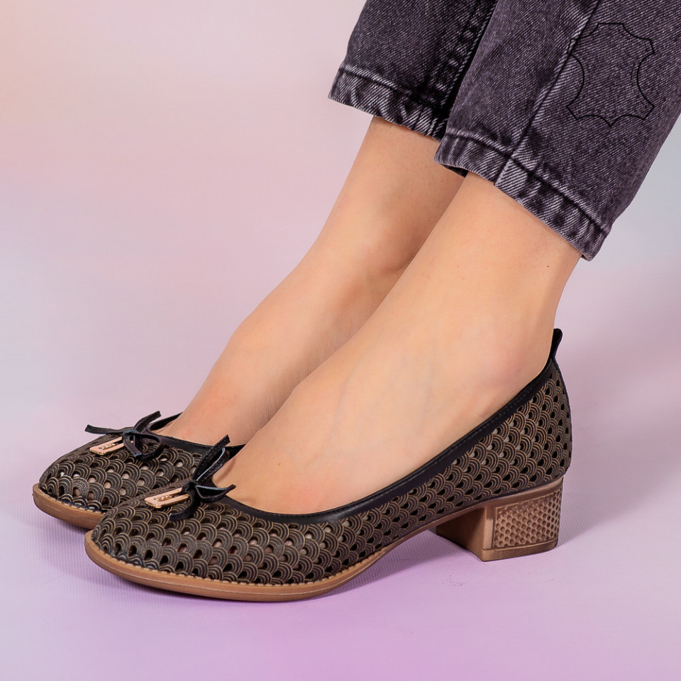Pantofi piele naturala Bro negri