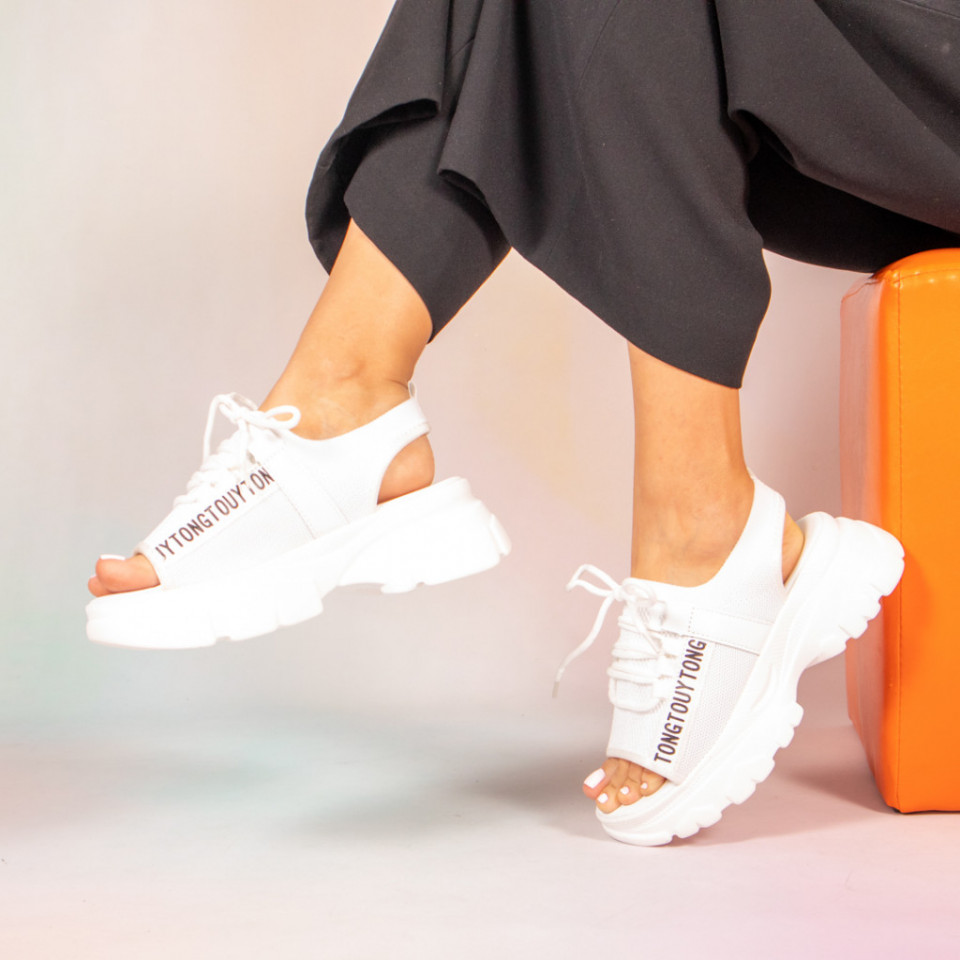 Platforme dama Jeso albe
