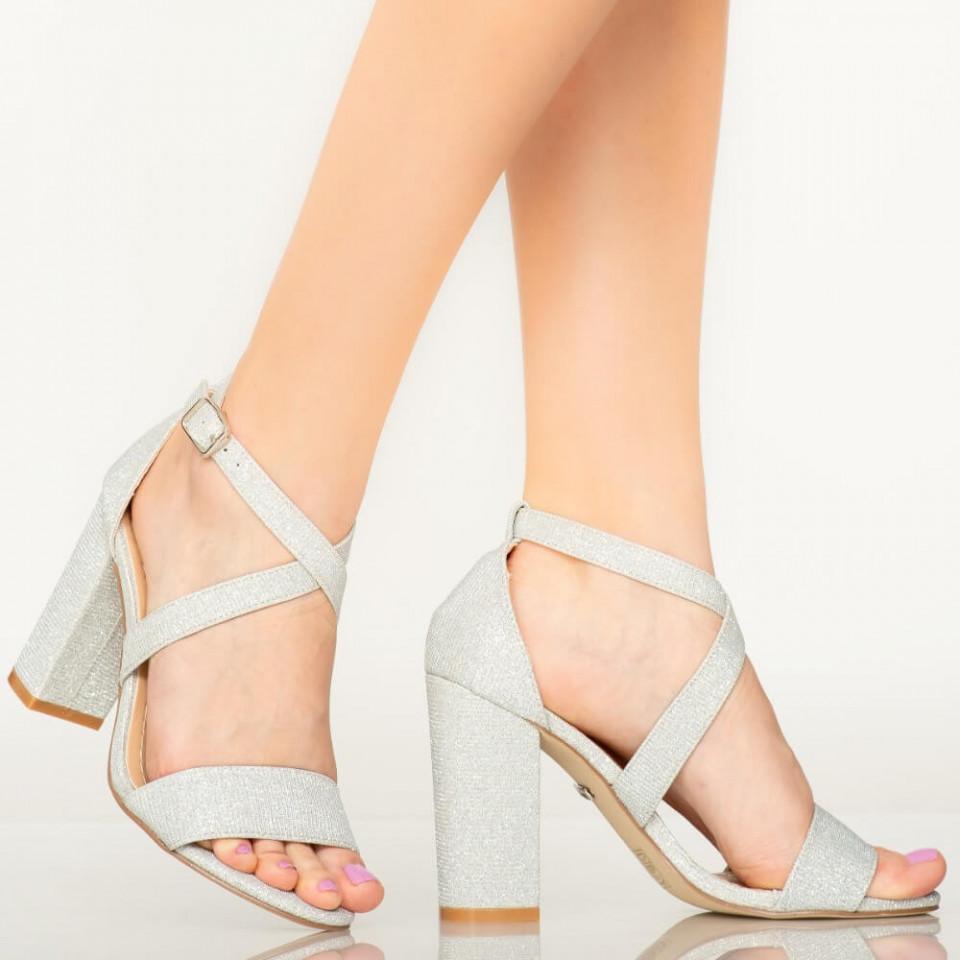 Sandale dama Maky argintii