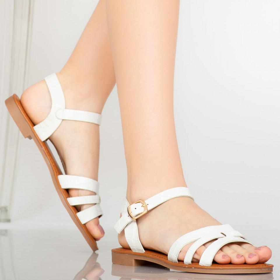 Sandale dama Odon albe
