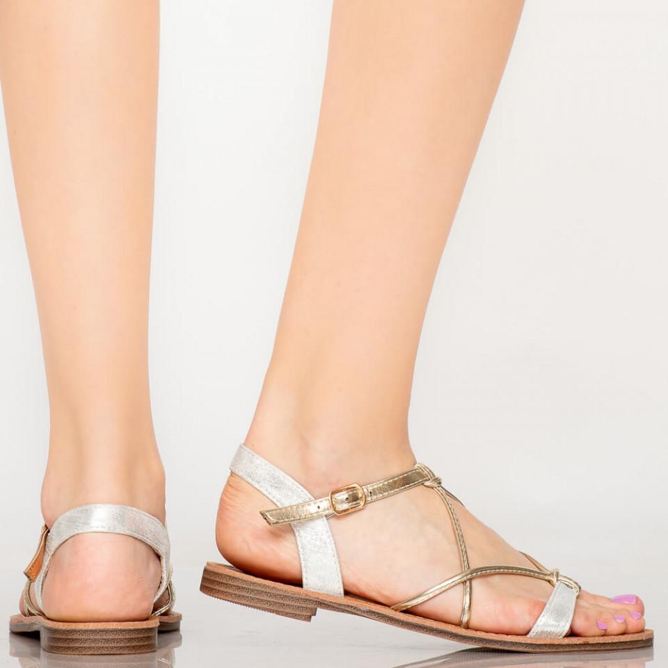 Sandale dama Zofu argintii