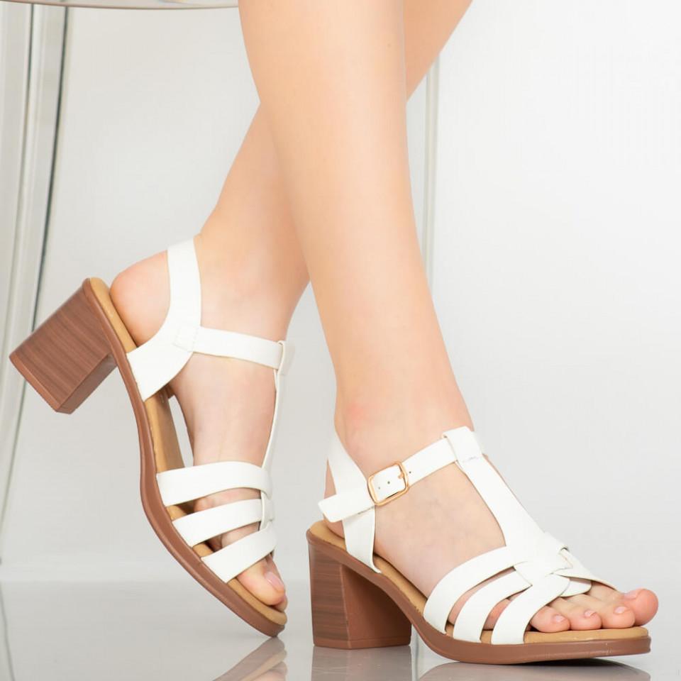 Sandale dama Gale albe