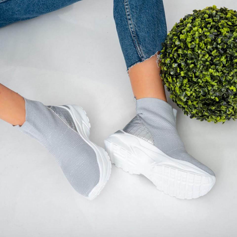 Sneakersi dama Lyn argintii