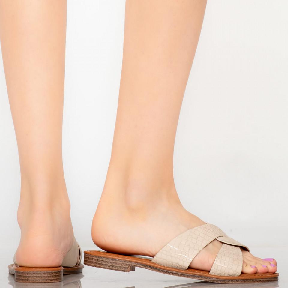 Papuci dama Saga bej