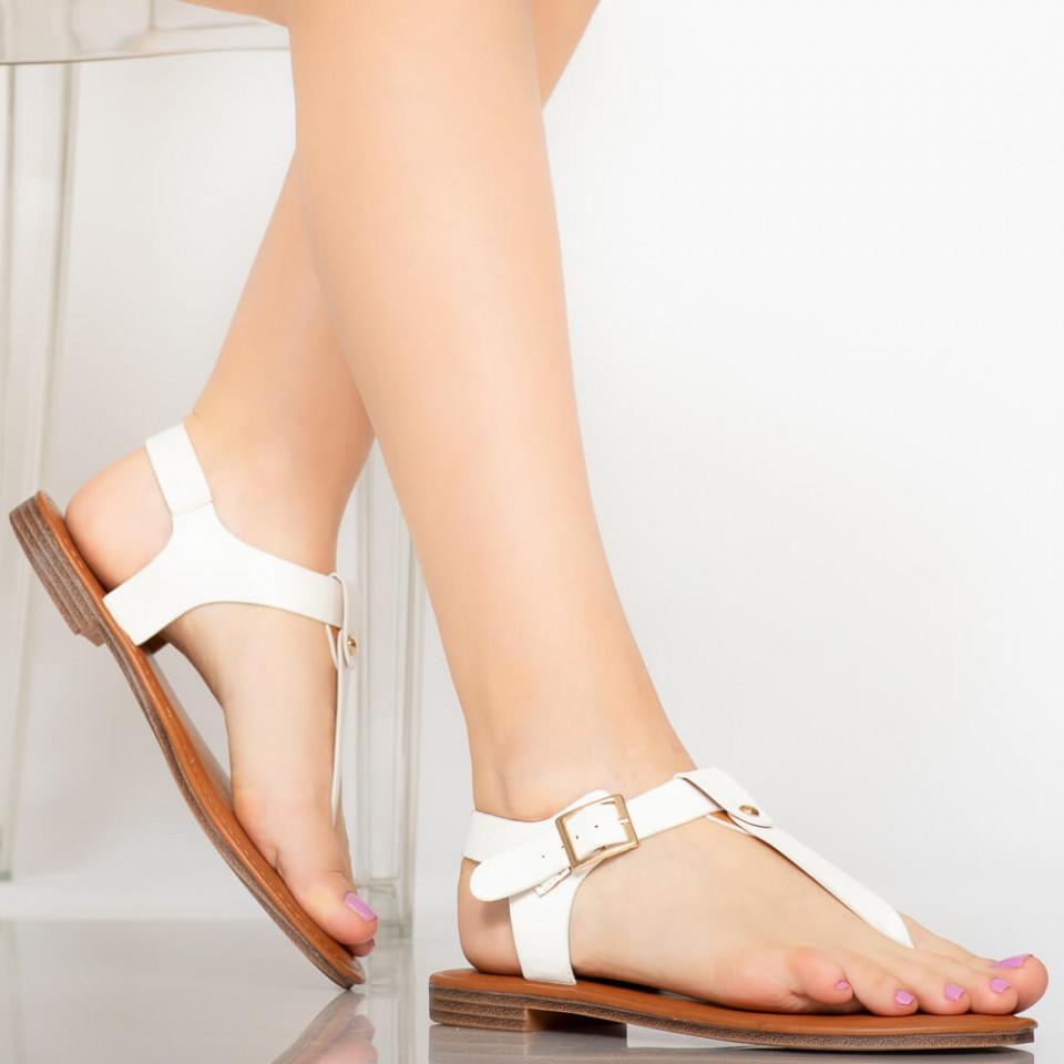 Sandale dama Nole albe