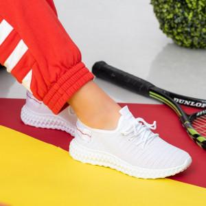 Γυναικεία λευκά πάνινα παπούτσια Reeg