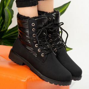 Μαύρες μπότες γούνας Θεών