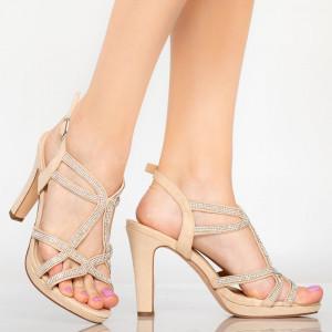Бежови сандали Lady Dian