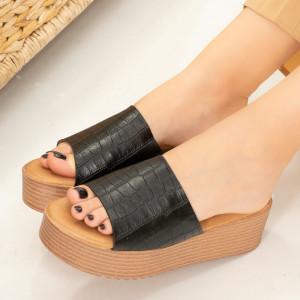 Черен дамски пантофи