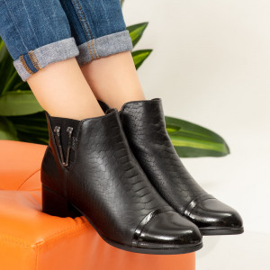 Черни ботуши от кожа San