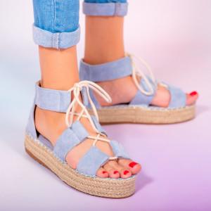 Blue Hevo women's sandals