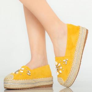 Calla sárga alkalmi cipő