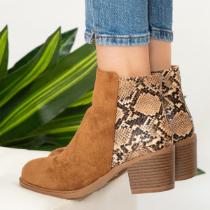 Miro camel lady ankle boots
