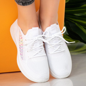 Női fehér bőr cipők