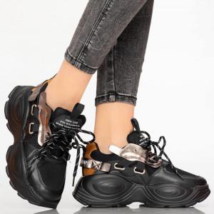 Női fekete Tog cipők