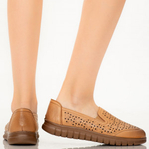 Pantofi dama Leme camel