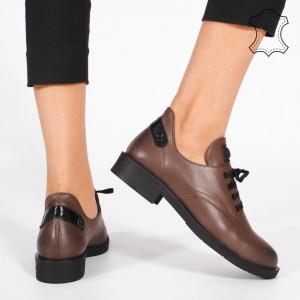 Pantofi Piele Naturala BRAN Maro
