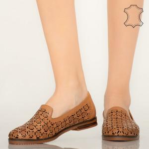 Pantofi piele naturala Bury maro