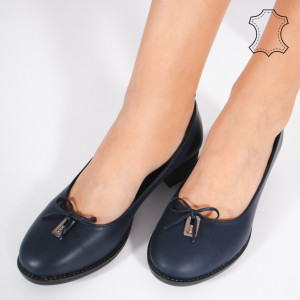 Pantofi Piele Naturala CROD Albastri