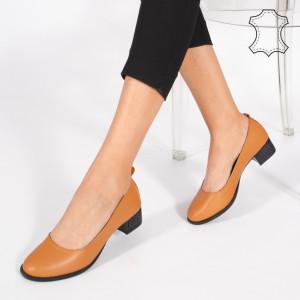 Pantofi Piele Naturala DOL Camel
