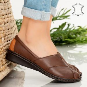 Pantofi piele naturala Epa maro
