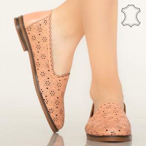 Pantofi piele naturala Hill roz