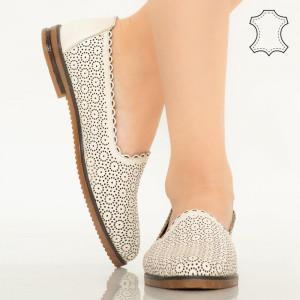 Pantofi piele naturala Timon bej