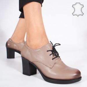 Pantofi Piele Naturala VIR Bej