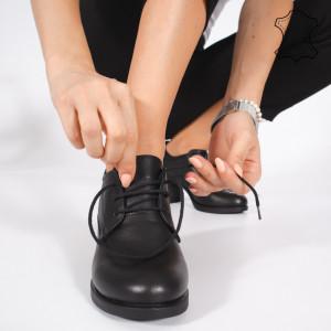 Pantofi Piele Naturala VIR Negri