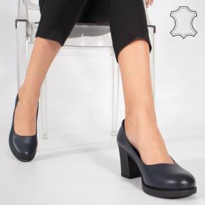 Pantofi Piele Naturala VIVE Albastri