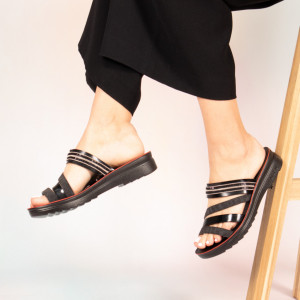 Papuci dama Pesa negre