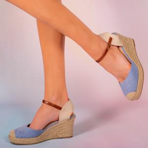 Platforme dama Mufi albastre