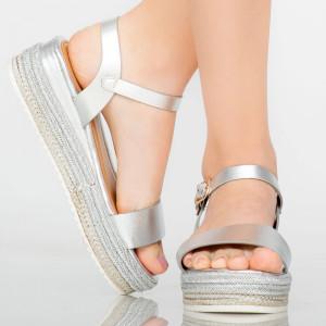 Platforme dama Pert argintii