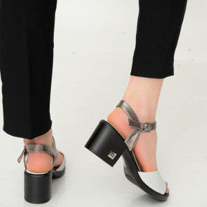 Sandale dama Aft albe
