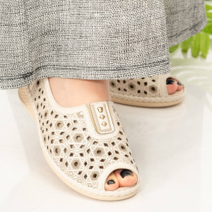Sandale dama Alva bej