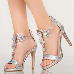 Sandale dama Quen argintii