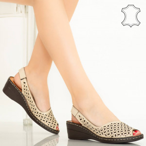 Sandale piele naturala Goy bej
