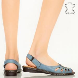 Sandale piele naturala Lya albastre